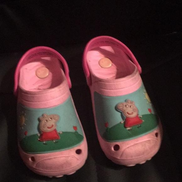 CROCS Shoes | Size 2 Peppa Pig Light Up